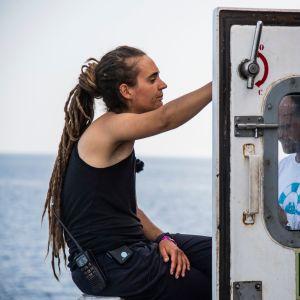 Den tyska kaptenen Carola Rackete på Sea Watch 3