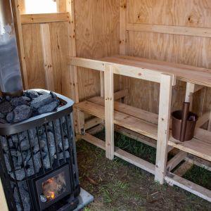 partiolaisten sauna jamboreella