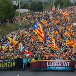 Demonstration i San Vicenc dels Horts 18.9.2019