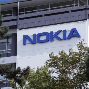 En bild på Nokias logotyp.