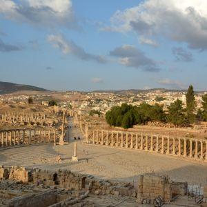 Ruiner i Jerash i Jordanien