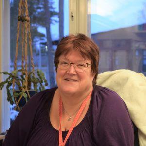Eva-Maria Sundström på sitt kontor.