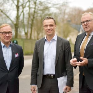 Personporträtt på Denis Strandell, Robert Nyman och Ragnar Lundqvist