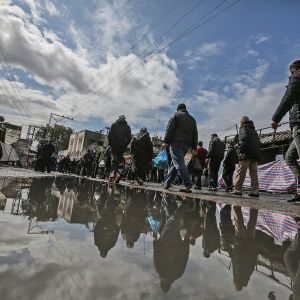 Flyktinglägret Nuseirat i Gaza.