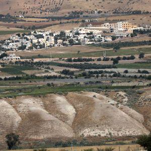 Område i Jordandalen på Västbanken - ett ockuperat område som ingår i Israels annekteringsplaner.