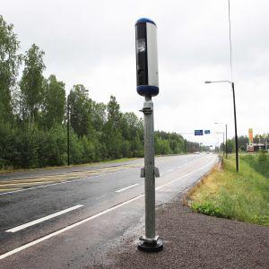 Nopeusvalvontakamera Korialla Kouvolassa.