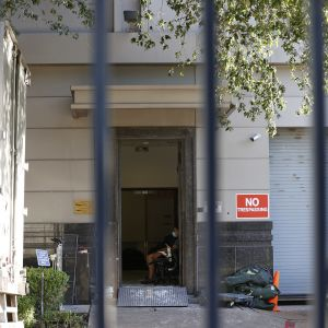 Kinas nedstängda konsulat i Houston i USA.