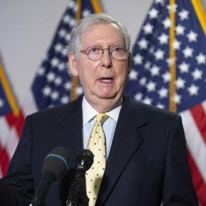 Senatens majoritetsledare Mitch McConnell