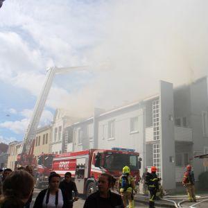 Brand på Formansgatan i Vasa.