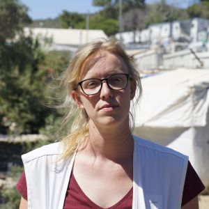 Caroline Willeman är fältkommunikatör på grekiska ön Lesbos för Läkare Utan Gränser