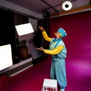 fotografering i en fotostudio för Marsipanpojken