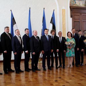 Estlands regering den 29 april 2019.
