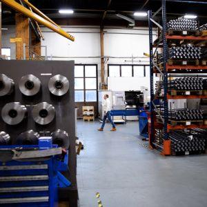 Kuva metallitakomo- ja jatkojalostaja Memar oy:n tehtaalta Virroilta.