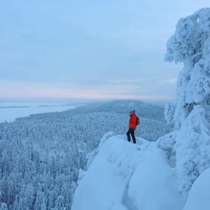 Lumimaisema Kolilta.