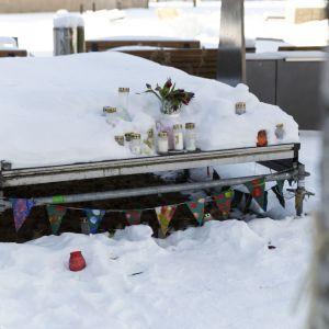 Koskelan murhapaikka 17.2.2021, kun tapauksen oikeuskäsittely alkoi.