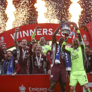 Leicester juhlii FA Cupin mestaruutta.