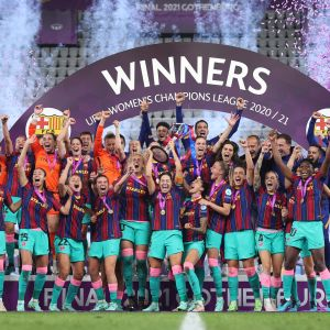 Barcelona juhlii mestaruutta