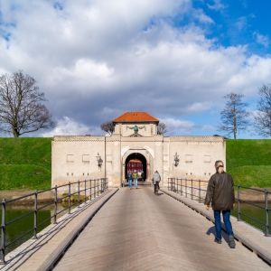 Ingången till det berömda fortet Kastellet i Köpenhamn