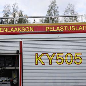 Kymenlaakson pelastusaseman paloauto.