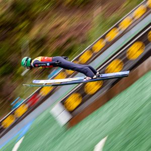 Ilkka Herola mäkihypyssä 29.8. FIS Sommer Grand Prixissä Saksassa.