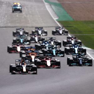 Formula 1 -sarjan kilpailu Ison-Britannian Silverstonen radalla.
