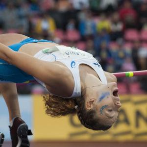 Ella Junnila vid landskampen 2018.