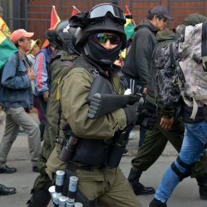 Protester i Bolivia 9.10.2019