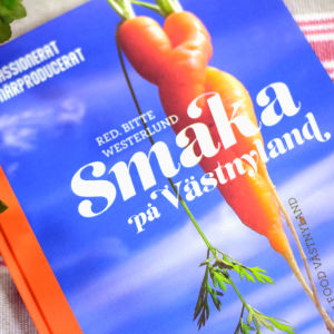 Bild på bok där det står Smaka på Vätnyland.