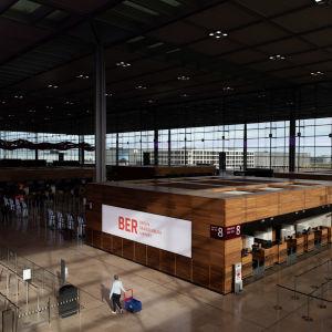 Terminal 1 på Berlin-Brandenburgs flygplats oktober 2020.