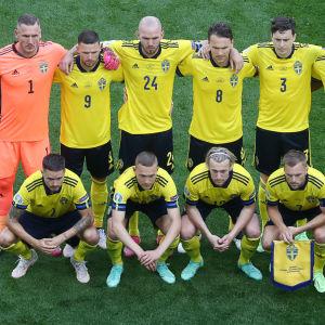 Sveriges lag inför matchen mot Slovakien.