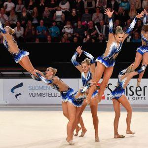 Minetit under sitt program i VM i gruppgymnastik i Helsingfors i maj 2017.