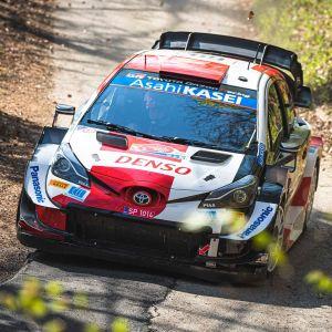 Kalle Rovanperä kör rally.