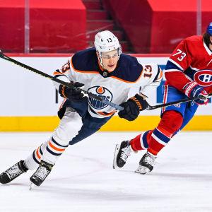 Jesse Puljujärvi fick en assist i matchen mot Montreal.