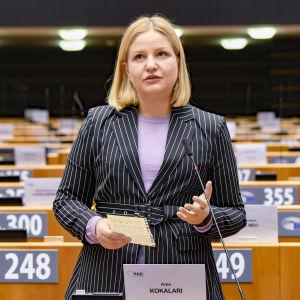 Moderata Europaparlamentarikern Arba Kokalari.