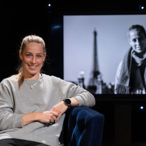 Linda Sällström i Daniel Olins show, våren 2020.