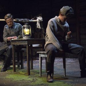 Foto från Vinterkriget - here we go again på Lilla Teatern.