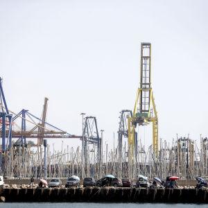 Hamnen i Valencia.