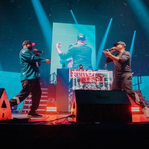 Public Enemy Radio uppträdde på Gods of Rap-evenemanget i Helsingfors ishall