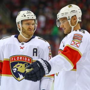 Jonathan Huberdeau och Aleksander Barkov.