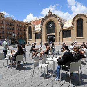 Uteservering i Tarragona 11.5.2020