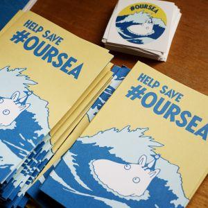 Pamfletter för kampanjen #oursea.