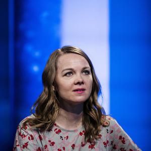 Kuvassa Ylen tiloissa on Katri Kulmuni, joka osallistui Ylen A-studioon 8. kesäkuuta 2020.