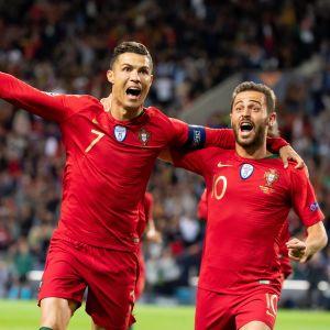 Cristiano Ronaldo och Bernardo Silva var i framträdande roller i segern över Schweiz.