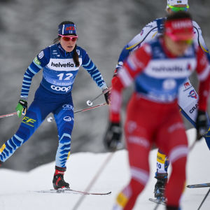 Krista Pärmäkoski (till vänster) har hittat formen.