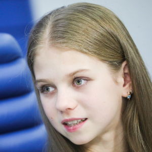 Aleksandra Trusova är 14 år gammal.