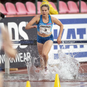 Sofie Lövdal i farten under Sverigekampen 2020.