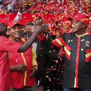 President Uhuru Kenyatta hoppas få förnyat förtroende för sig och sitt Jubilee-parti