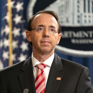 USA:s biträdande justitieminister Rod Rosenstein.