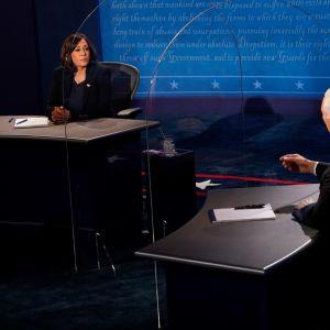 Mike Pence ja Kamala Harris varapresidenttiehdokkaiden tv-väittely.