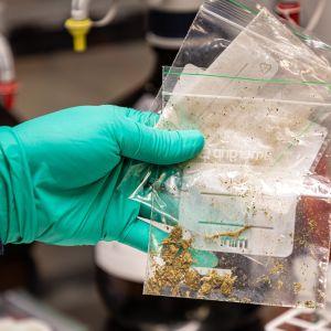 Marihuanaa minigrip-pussissa Tullilaboratoriossa
